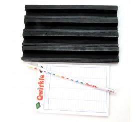 Set accessoires Qwirkle bonus 4 chevalets + 1 bloc score