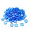 100 Pions de loto ronds 15 mm de diamètre sachet de 100 jetons bleu