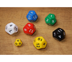 Grand dé à jouer 12 faces dodécaèdre jumbo
