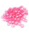 100 Pions de loto ronds 15 mm de diamètre sachet de 100 jetons roses
