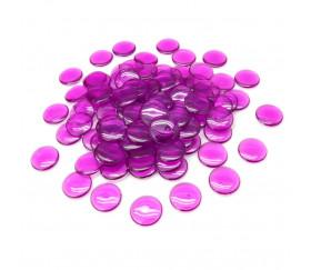 100 Pions de loto ronds 15 mm de diamètre sachet de 100 jetons violets