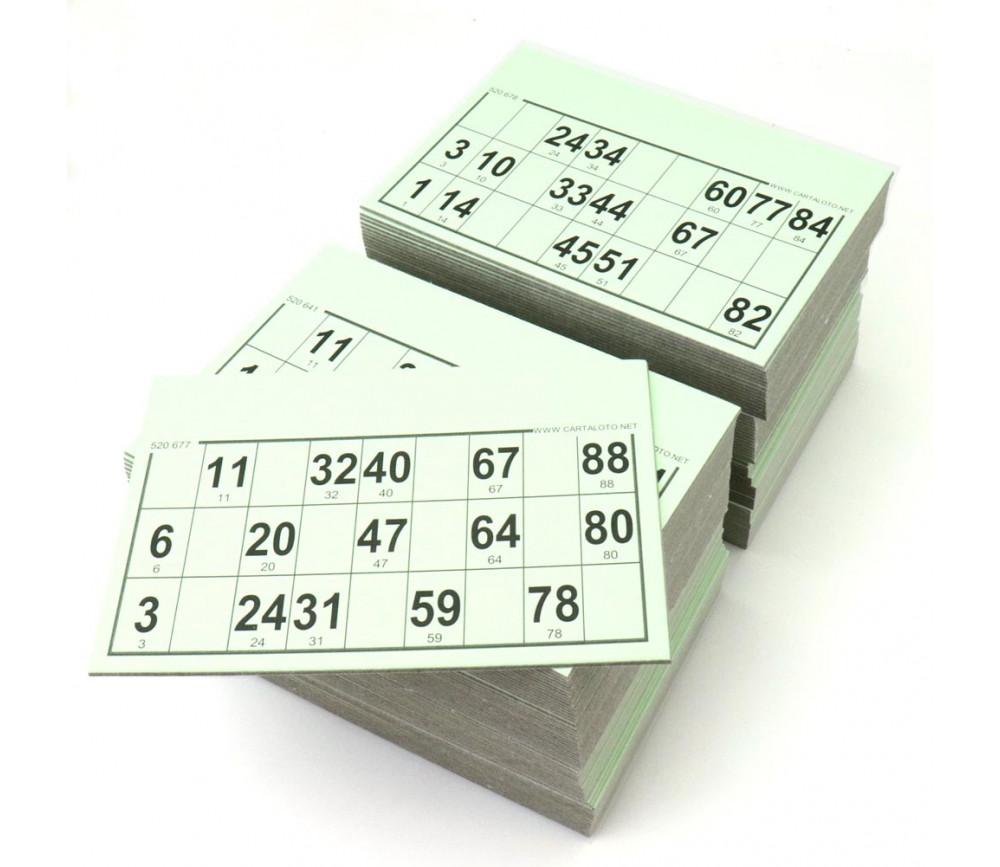 125 Carton Loto Rigide Cartes Standard Pour Association Organisations De Loto