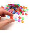 Lot 5000 Jetons 15 mm transparents colorés pour loto ou bingo