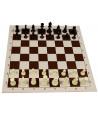 Echiquier tapis de jeu roulable 43x43 cm