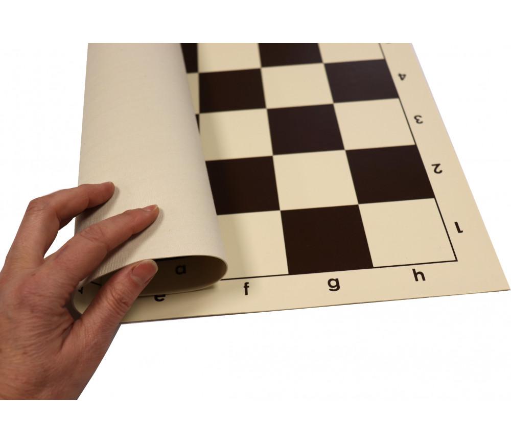Echiquier tapis de jeu roulable 50x50 cm