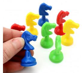 8 pions petits chevaux plastiques