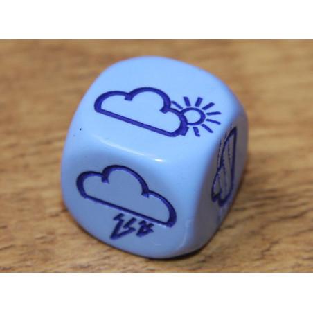 Dé à jouer météo 16 mm avec nuages et soleil
