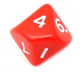 Dé 10 faces opaque 0 à 9 couleur rouge pour jeux