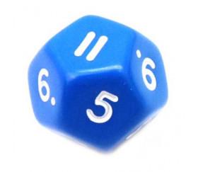 Dé à jouer 12 faces opaques dodécaèdre couleur bleu pour jeux