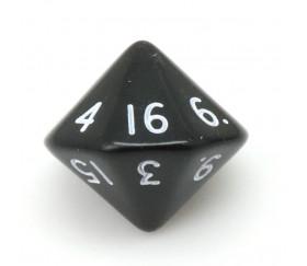 Dé 16 faces D16 à l'unité couleur noir