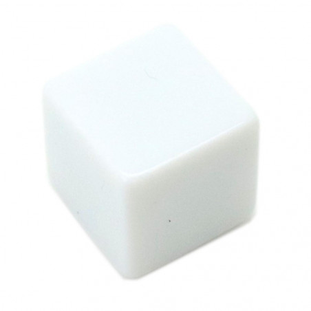 Dé cube blanc neutre multifaces 1.6 cm angles droits D6 16 mm