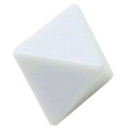 Dé 8 faces blanc neutre à personnaliser standard 2.5 cm