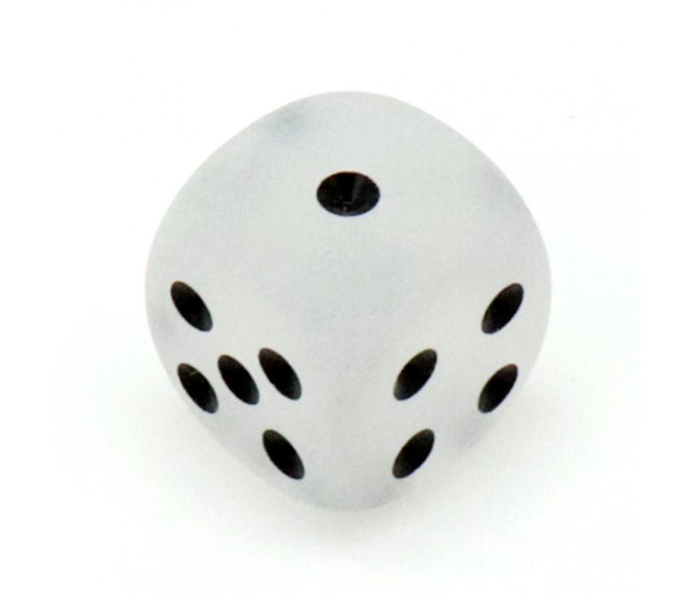 Dé 16 mm givré blanc