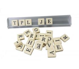 Portes lettres ou jetons rummy, scrabble en plastique transparent chevalet