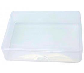 Boite plastique POKER 54 cartes à jouer transparentes vide