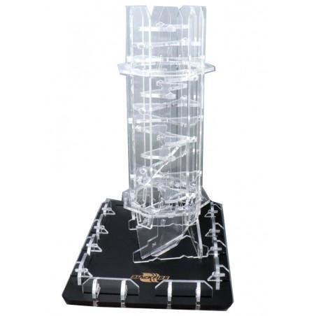 Tour lanceur de dés Crystal twister plastique transparent