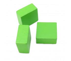 Pavé en bois Carré plat 20 x 20 x 10 mm jeux à l'unité vert clair