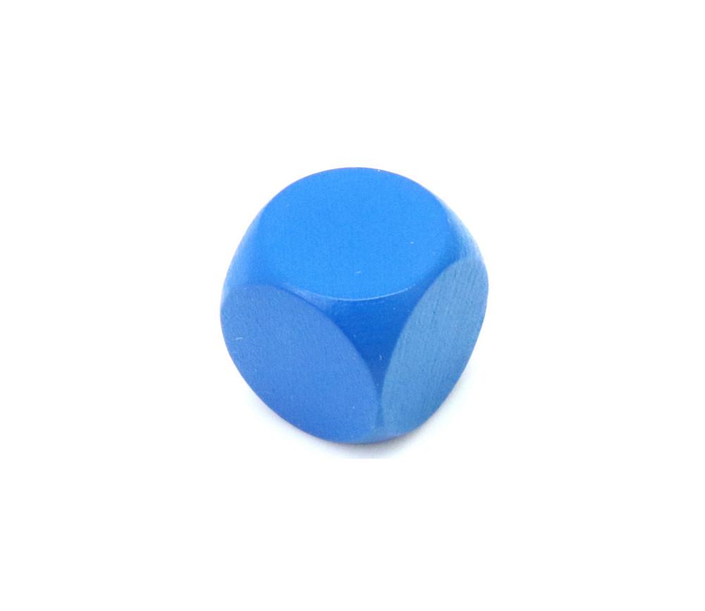 Dé neutre bleu 16 mm en bois sans marquage hêtre
