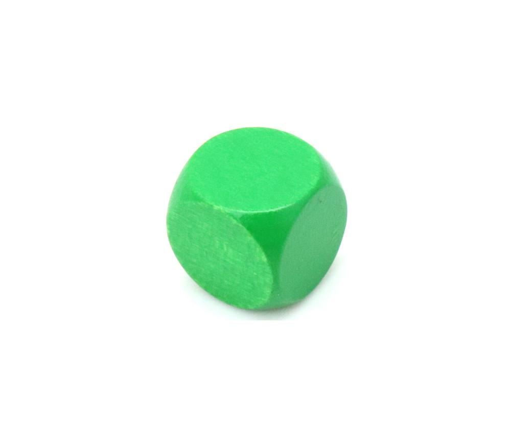 Dé neutre vert 16 mm en bois sans marquage hêtre