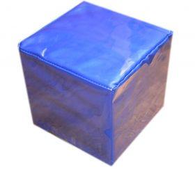 Dé géant bleu personnalisable à volonté faces modifiables 15,5 cm