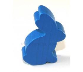 Pion en bois lapin bleu animal pour jeu