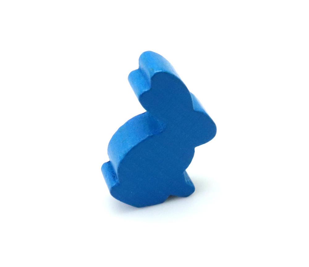 Pion en bois lapin bleu 22 x 31 x 8 mm animal pour jeu