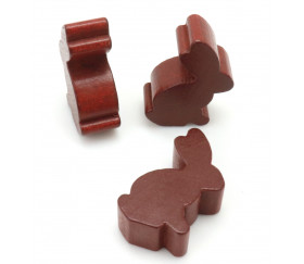 Pion en bois lapin marron dodu 22 x 30 x 10 mm animal pour jeu