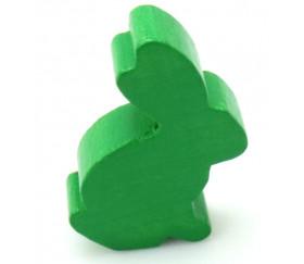 Pion en bois lapin vert 22 x 31 x 8 mm animal pour jeu