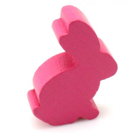 Pion en bois lapin rose 22 x 31 x 8 mm animal pour jeu