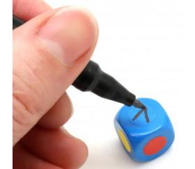 Dé neutre bleu 14 mm plastique à l'unité