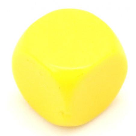 Dé neutre jaune 14 mm plastique à l'unité