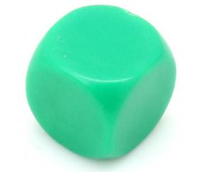 Dé neutre vert 14 mm plastique à l'unité