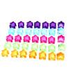 35 Pions meeple translucides 5 couleurs ton pastel