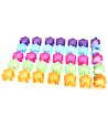 35 Pions meeple translucides 5 couleurs ton pastel pour jeu