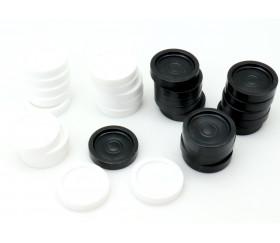Pions de dames plastique 40 pions de 2.3 cm