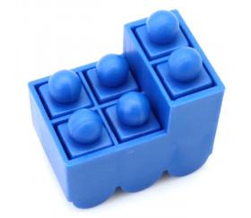Train bleu pour jeux avec 6 pions encastrables