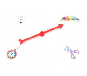 Flèche 100 mm rouge (10 cm) pour créer un jeu avec une roue