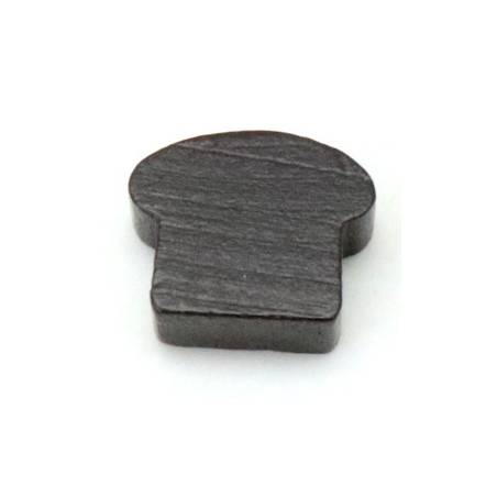 Pion pain naturel marron 13 x 16 x 7 mm
