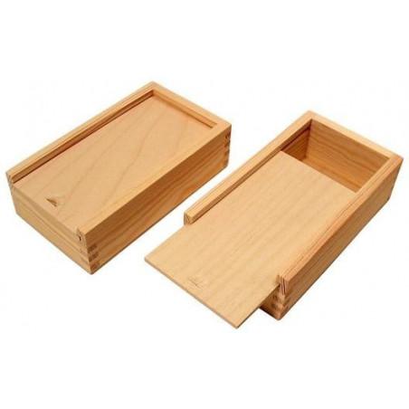Coffret bois glissière pour jeu cartes ou accessoires jeux