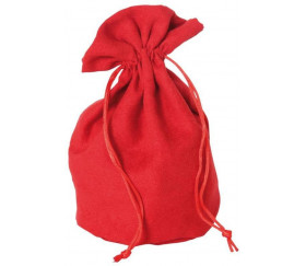 Bourse Sac velours  rouge 215 x 160 mm