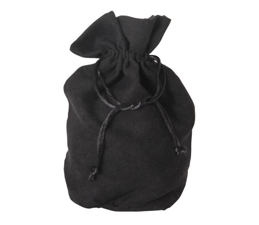 Bourse Sac velours noir 215 x 160 mm