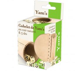 Gobelet de Yam's avec 5 dés