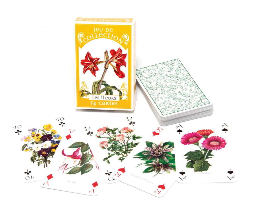 Jeu de 54 cartes collection les fleurs