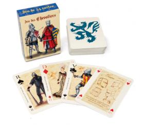Jeu de 54 cartes thème Les Chevaliers