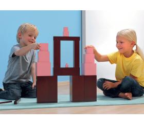 Escalier Marron Montessori - 10 briques en bois