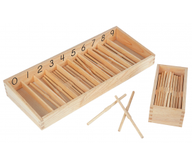 Boite des fuseaux Montessori