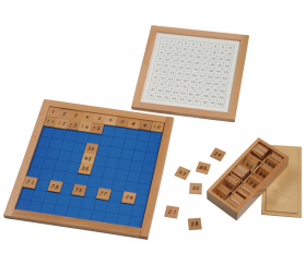 Montessori plateau contrôle centaines