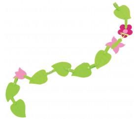 Guirlande laçage fleurs attache montessori