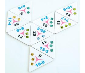 Tri-dominos de 1 à 20 addition soustraction