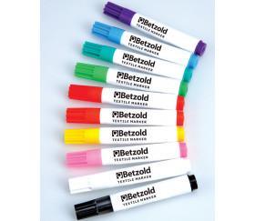 10 Feutres textiles crayons 10 couleurs pour tissu